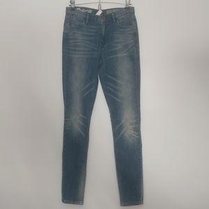 NWT Madewell High Riser Blue Wash Skinny Jean 26